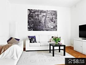 95㎡北欧风格复式楼客厅装修效果图大全2012图片