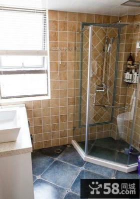 现代美式风格装修卫生间图片欣赏