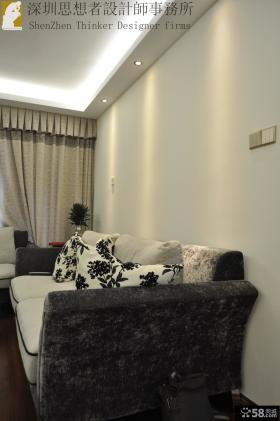 简约中式风格客厅沙发靠垫图片