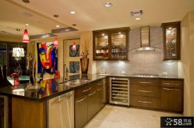 美式风格厨房整体橱柜装修实图