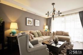 美式家居风格装修效果图客厅设计