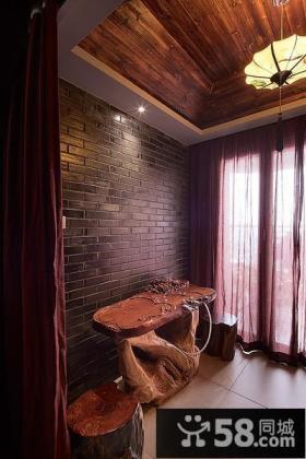 中式家装阳台设计装潢案例