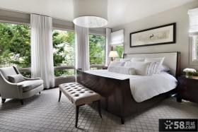 美式简约别墅卧室装修效果图