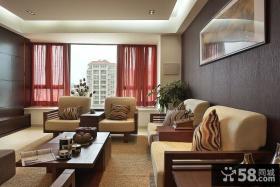 现代小户型客厅沙发摆放效果图