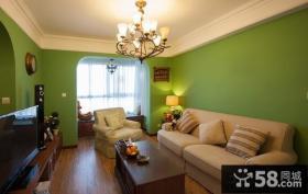 美式风格90平米二居客厅装修效果图