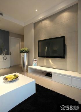 简易时尚客厅电视背景墙
