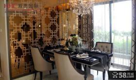 新古典风格三室两厅餐厅装修效果图