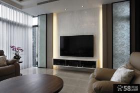 简单设计客厅电视背景墙效果图