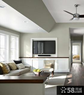 家居现代小客厅电视背景墙欣赏大全