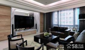 装修时尚现代客厅电视背景墙