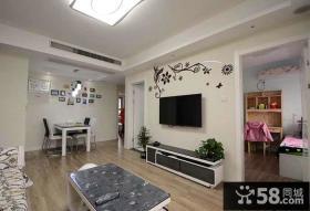 简单装修设计客厅电视背景墙欣赏