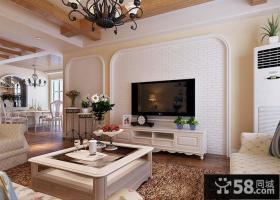 简欧设计客厅电视背景墙效果图