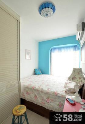 地中海风格两室两厅小卧室设计效果图