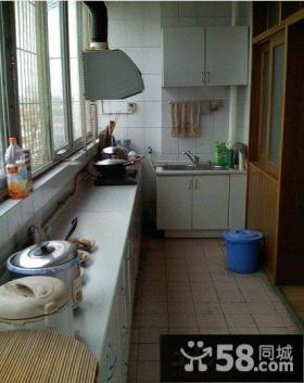 传统阳台改厨房装修效果图
