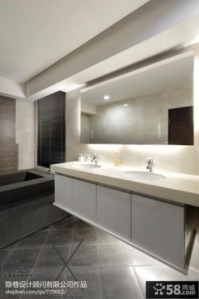 现代风格洗手间装修效果图