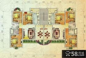 复式楼房屋设计平面图