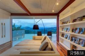 日式家居阳台玻璃门效果图