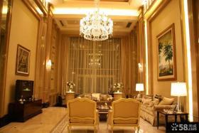 整体客厅水晶灯装饰效果图片