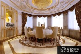 欧式奢华别墅餐厅吊顶装修效果图大全