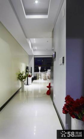 简约家居走廊玄关装修吊顶图片