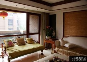 东南亚风格客厅阳台装修效果图