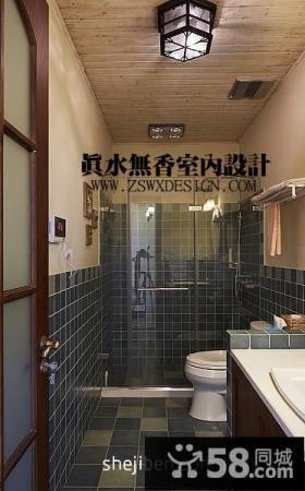 复式楼家庭家用卫生间墙面瓷砖装修效果图片