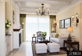美式休闲三室两厅家装效果图