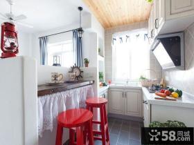 地中海风格复式家装吧台设计效果图