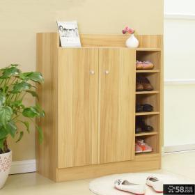 实木进门玄关鞋柜装修效果图片