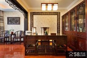 古典中式风格室内书房家居装饰效果图
