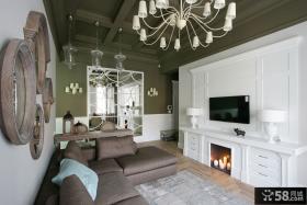 美式小户型公寓住房室内装修效果图大全2014图片