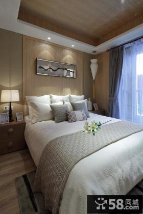 美式简约风格二居室卧室背景墙装饰画