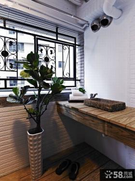 美式风格三室两厅阳台装饰设计