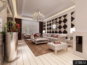 欧式客厅沙发背景墙装修效果图大全2012图片