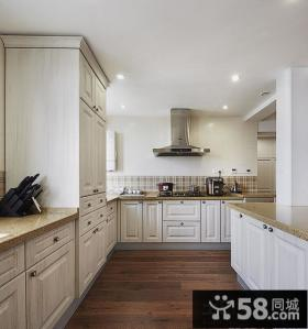 开放式厨房欧式橱柜图片大全