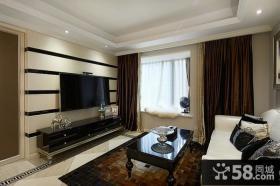 新古典风格室内客厅电视背景墙图片