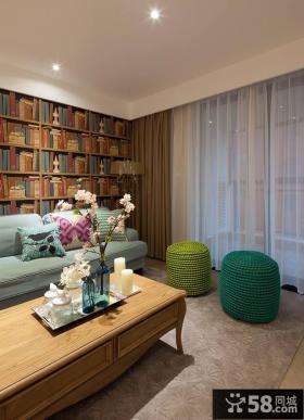 美式风格客厅窗帘装饰设计效果图