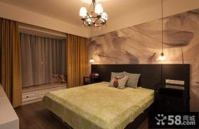 美式风格卧室房间装饰设计效果图