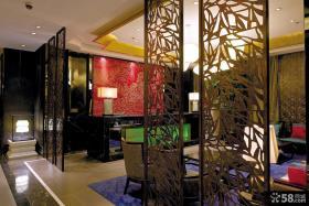 中式新古典客厅隔断装修效果图大全