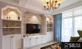 简欧复式室内家居装饰效果图片