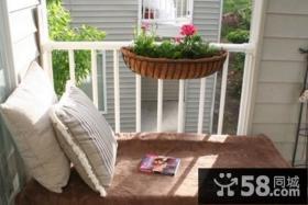 美式房间阳台装修效果图