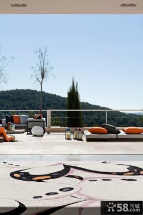 简约现代风格露天阳台设计