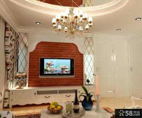 欧式田园电视背景墙装修效果图大全2013图片