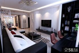 现代客厅液晶电视背景墙设计