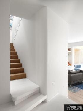 北欧风格别墅实木楼梯图片