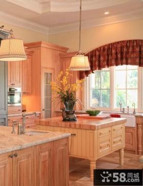 田园风格厨房橱柜装饰效果图大全2012图片
