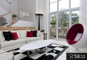 复式家装客厅装修设计图