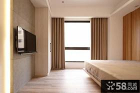 简约时尚现代卧室装修电视背景墙