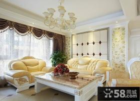 客厅沙发背景墙效果图片2014