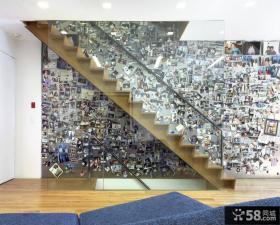 家装复式楼梯间相片墙图片欣赏